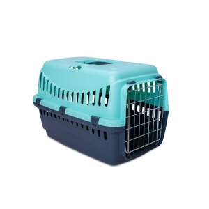BERGAMO-GIPSY-Metal-Door-Pet-Carrier-Mint-Small