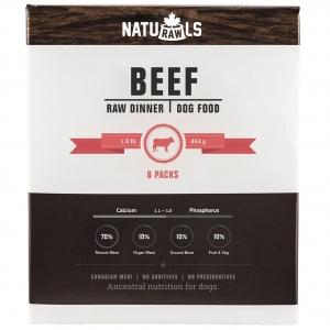 NATURAWLS Frozen - Raw Beef & Veggie 454GM