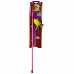 """Teaser Wand With Feathers 18"""""""